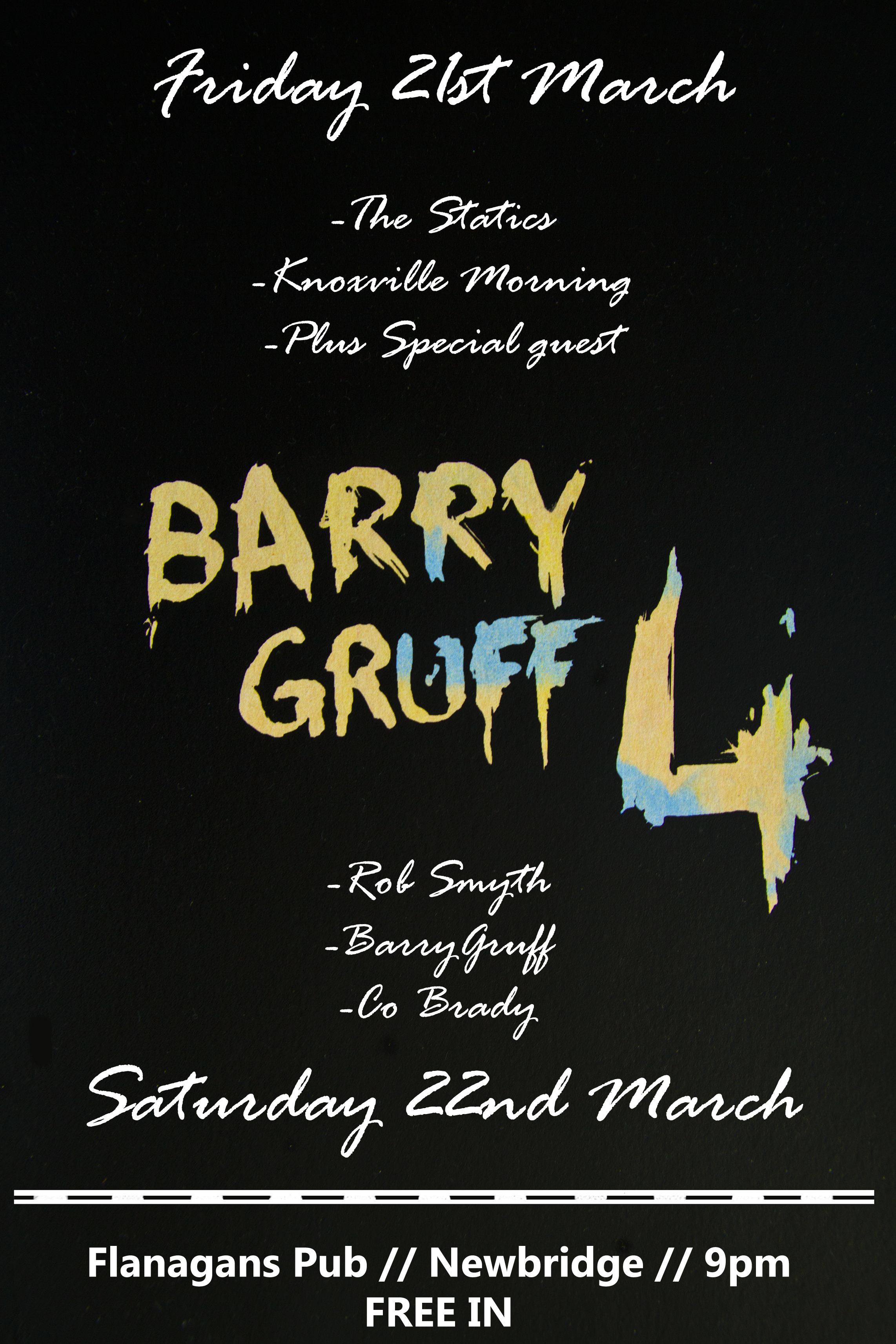 barrygruff 4th birthday bash